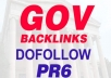 create 10 PR6 High PR DoFollow Gov Links From Different Gov Domains To Boost Your Site Rankings In Google Organic Listings