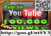 Deliver up to 100,000 Youtube Views, 15 Likes, & 10 Favorites to your Video & 30 Subscribers to your Channel