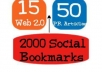 will create 75 PR3 to PR8 seo LlNKWHEEL and 2000 social bookmarking backlinks for