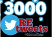 give you 3000+ RETWEETS and favorites from 3000+ unique profile having 400,000 followers Instant service