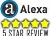 write a 5 star Alexa review for your site and ping it within 4 days