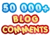 build MASSIVE 50000 blog comments with full report and pinging within 2 days