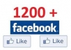 Get you Real 1200 HIGH - QUALITY Likes for your FaceBook Fan Page