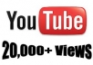Get you 20,000 Real Video Views for 2 (two) of your YouTube Videos