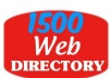 submit your site to 1500 High PR web directories for