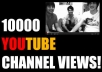 promote and deliver around 10,000 unique views to your YouTube channel within1 week
