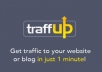 give u a new Traffup account w 11,000+ points worth 49 dollars in 4 day,increase site traffic,twitter followers,rts, and more