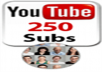 provide you 250 real YouTube subscribers