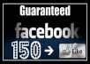 give you 150like on your any facebook page *not bot like 100% real and active*