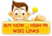 give you a list of 14,000 high PR WIKI links to create a backlink for your website, just for