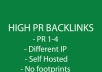 build 10 HIGHPRBACKLINKS from my private blog network with pr1 to 4 best bmr alternative 