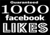 give you 1000 real facebook like 100% real,active and safe like on any page