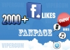 Send you Trusted 2000+ Facebook likes for your Facebook FanPage