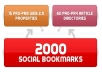 Create LINKWHEEL of 15 Web 2.0 Properties w/ Contextual Links, 60 Article Directories, & 2,000 Social Bookmarking Backlinks