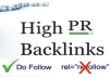 make 10 PR8 and 10 PR7 GOV and edu dofollow backlinks yes real gov and edu