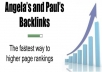 create 300+ PYRAMiD ANGELA backlinks Pr9 to 4 as layer1 and 10000+ wiki in layer 2 with 200+ edu backlinks just