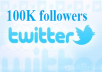 give you 100K real looking twitter followers without password just for