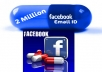Give you 2 Million Facebook Emails With Detail For Lots of getting New Friends
