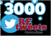 give you 3000+ RETWEETS and favorites from 3000+ unique profile having 200,000 followers within 12 hours