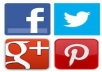 give you 60 pinterest, 30 google plus, 30 facebook like and 10 twitter followers * real human user*