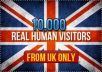 deliver 10,000 human visitors from UK to your site