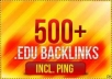 create 490 EDU backlinks for your website, for any url through blog comments