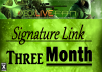 put your link in my PR2 forum signature for 3 month
