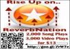 Give u 5,500 Reverbnation Video Plays, 3,500 Song Plays, plus 3,500 Page Views