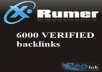 create 6000 Verified backlinks using Xrumer deliver within 24 hours