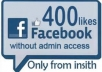 give you 100 facebook post like manually on your any post