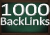 get you at least !!! 1000 plus SEO BaCkLiNkS Submitting your site to over 7000 sites New and Improved List within 5 days