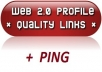 create 154 WEB 20 profile on sites with high page rank + ping to boost your search engine ranking