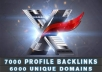 build 7000 UNIQUE domain names publicly viewable forum profile backlinks with xrumer