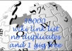 give you 38000 wiki site list upto PR9 no duplicates high success rate 