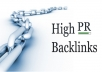 build over 1000+ High PR backlinks to your site to give more authority