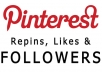 "Provide 4,000+ Pinterest Likes for your Photo - Repins & Followers w/ ""extras"""