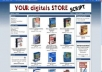 give You a Turnkey Mega  Ebook Store with MRR pre installed with 200 bestselling digital products to get you started