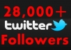 give you 25000+ real looking twitter follower in just 2days