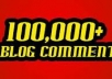 post your site throught 70000++ blogs comments to improve backlinks and SEO in 10 days time
