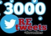 give you 3000+ Twitter Retweets Within 24 hours without any admin access
