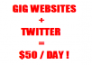 teach you how I use TWITTER and microgig websites to make AT LEAST 50 dollars per day INSTANT DOWNLOAD