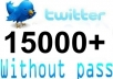 increase 15,000+ real twitter followers to your account just within 72 hours without your password