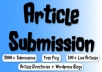 spin and Submit to 2000 Article Submission Directories, 200 Instant Backlinks, 100 Live URLs 