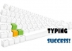 type your scanned documents of up to 2000 words