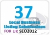 submit your business details on the TOP 37 UK CITATION SITES to boost your google places listing