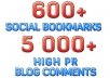 create EXTREME Link Pyramid with over 600 Social Bookmarks plus 5 000 High Pr Blog Comments 