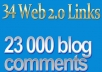 linkPush with 23000 blog comments and web2 quality sites
