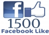 Give You 1500 Fake FACEBOOK Likes Guaranteed On Your Fans Page Without ID Pass