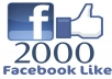 Give You 2000 FACEBOOK Fake Likes Guaranteed On Your Fans Page Without ID Pass