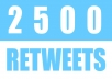deliver 2500 Retweets and Favorites from 2500 unique profiles having 400,000 followers &quot;Express&quot; delivery
